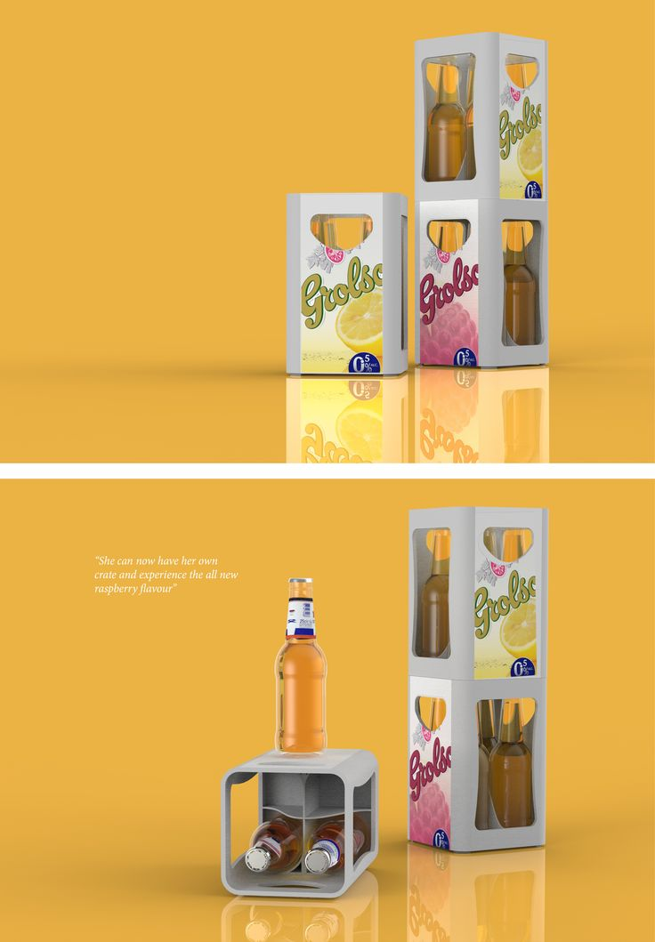 Grolsch 'Stender' packaging design concept for the product launch of a fictional new taste. 2012