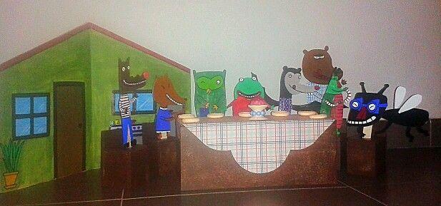 Marionetas de palo. La casa de la mosca Fosca.