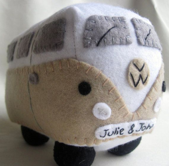 VW Campervan Plush Collectible Personalized Car by GracesFavours, £22.00