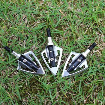 Sıcak satış 6pcs/lot ok ipuçları okçuluk Broadhead ok hedef ok uçları 2 bıçak yay için fiberglas ahşap oklar avcılık