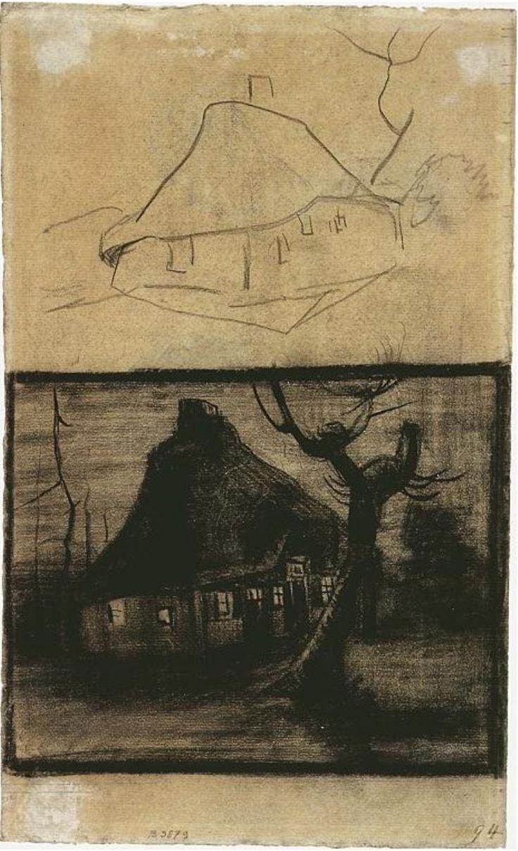 best images about vincent van gogh sepia zwart wit vincent van gogh drawing black chalk on laid paper nuenen
