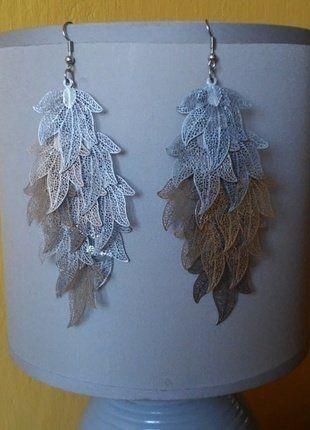 Kup mój przedmiot na #vintedpl http://www.vinted.pl/akcesoria/bizuteria/18997905-kolczyki-azurowe-listki-wiszace-metalowe