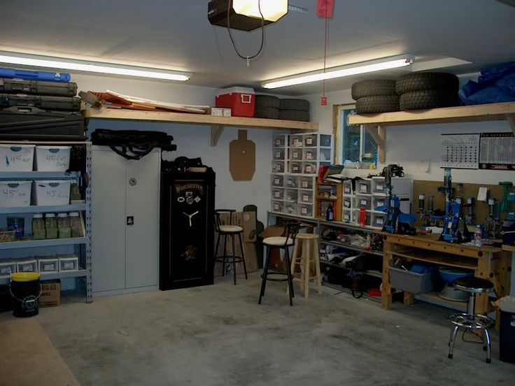 Nice Garage Based Setup Reloading Rooms And Benches