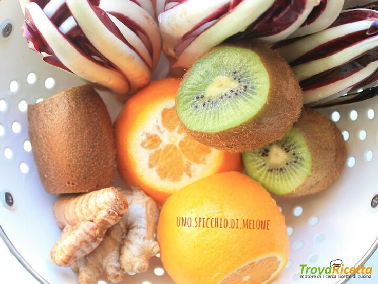 ESTRATTO DETOX con RADICCHIO TARDIVO, KIWI, ARANCIA e ZENZERO  #ricette #food #recipes