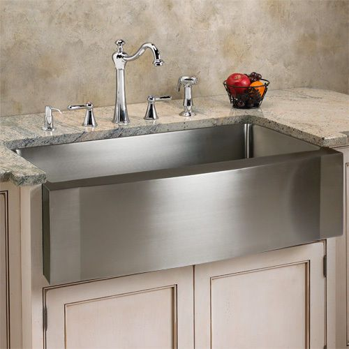 Overmount Farm Sink : ... Steel Single Well Wave Apron Farm Sink dont know if I like this look
