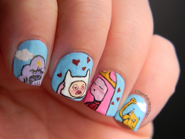 Toxic Vanity: Adventure Time nails. The kids would love it if I did this!!