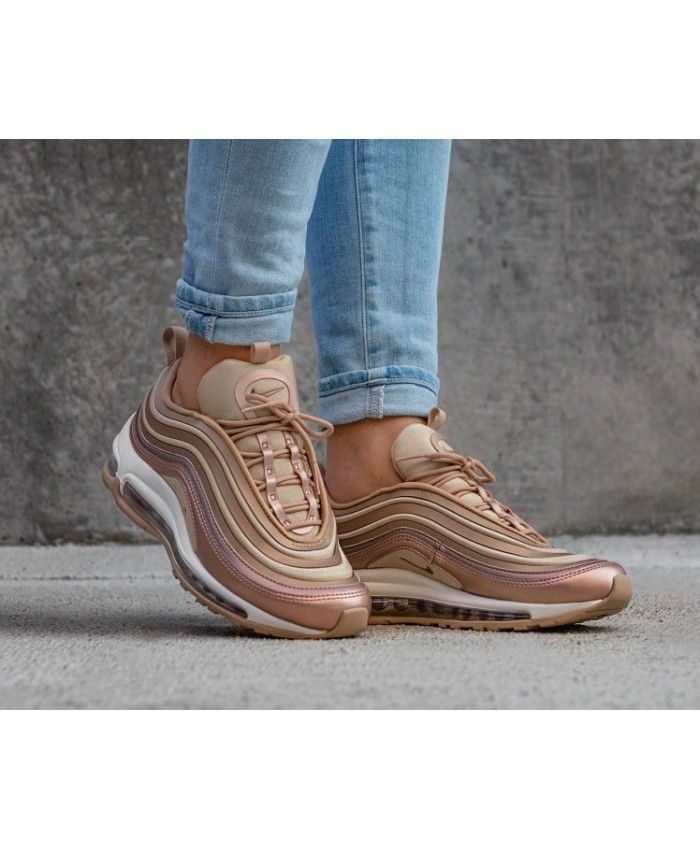 buy popular e0d0c 741ea Women s Nike Air Max 97 Ultra 17 In Metallic Red Bronze White Trainer