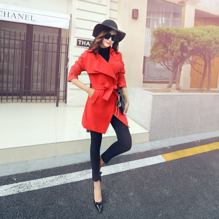 2016 Trench Female Spring And Autumn Outwear Medium-Long Women's Trench Outwear Ladies Trench Coat Thin Korean Style China Cheap