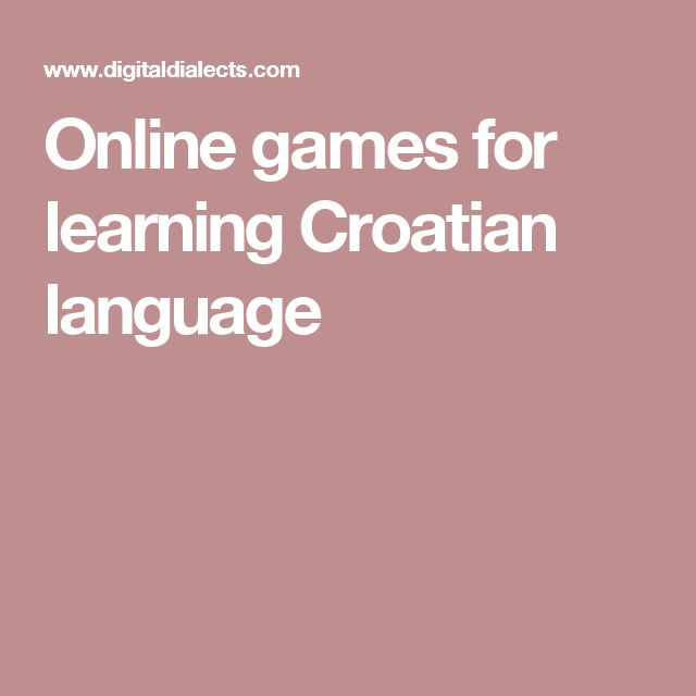 Online games for learning Croatian language