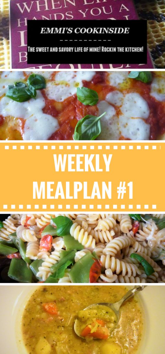 Ideal Emmi us weekly menu plan u Easy and frugal ideas for the family Emmi us