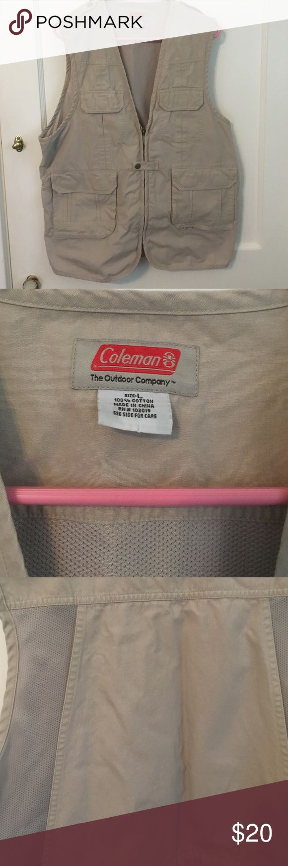 Men's sports vest Coleman sports vest , hunting, fishing   Tons of pockets  perfect condition coleman Jackets & Coats Military & Field