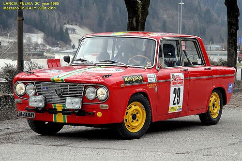 "LANCIA  FULVIA 2C  year 1965 "" 13 Snow Trophy """