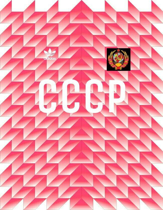 ad025d19c9165 1988 Euro URSS (CCCP) national team pattern jersey adidas. (By Nicolás  Checa)