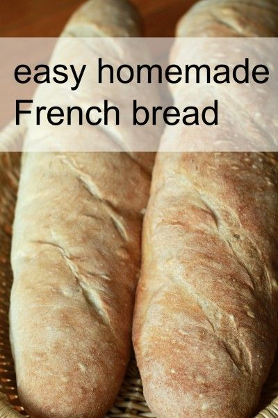 easy homemade french bread. In my opinion, this is the best bread ever. Will def do it again!!