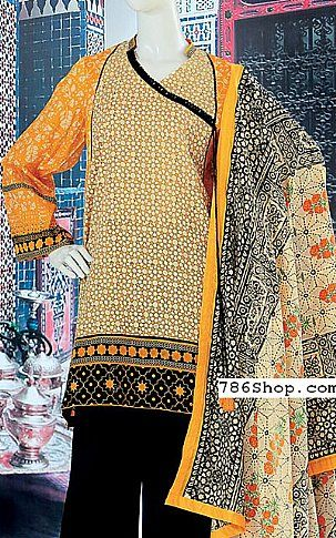 Orange/Yellow Lawn Suit | Buy Junaid Jamshed Eid Collection Pakistani Dresses and Clothing online in USA, UK