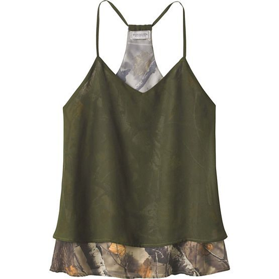 Ladies Country Girl Chiffon Big Game Camo Tank at Legendary Whitetails