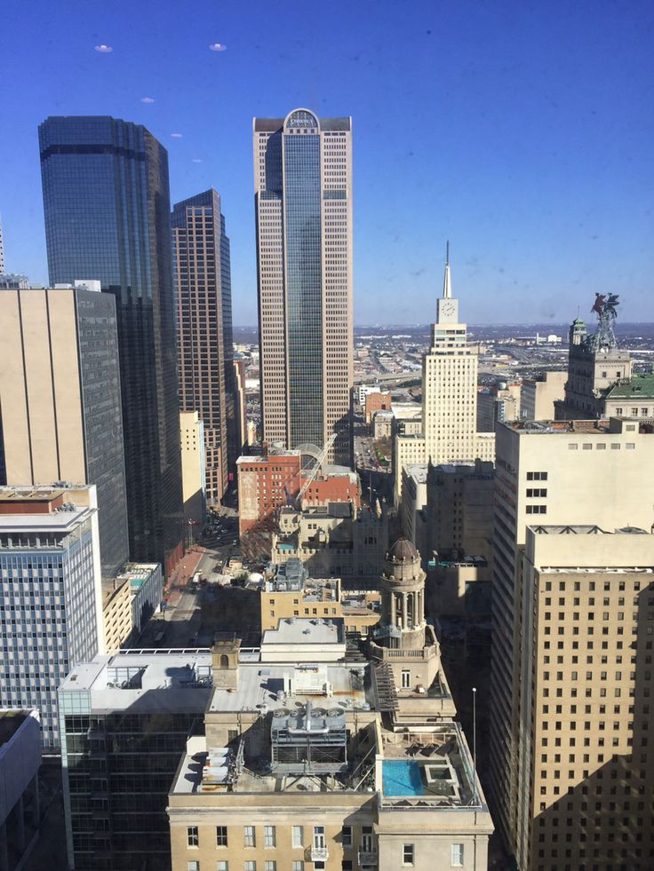 View Of Dallas From The New Westin Downtown Which Opened December 2015