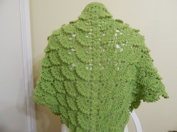 Shawl Triangular Crochet parte 2 de 2