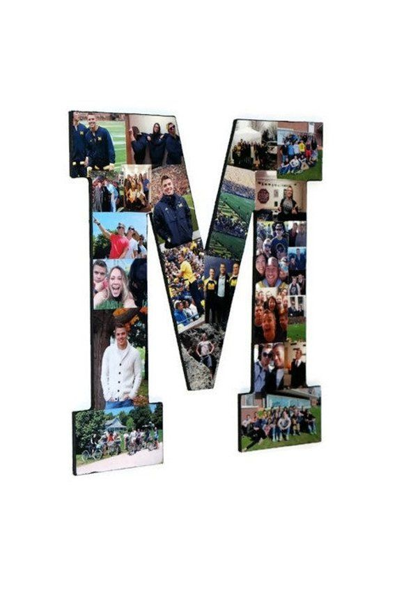 Photo Collage Letter M   Photo Collage frame   Photo Collage Gift ...