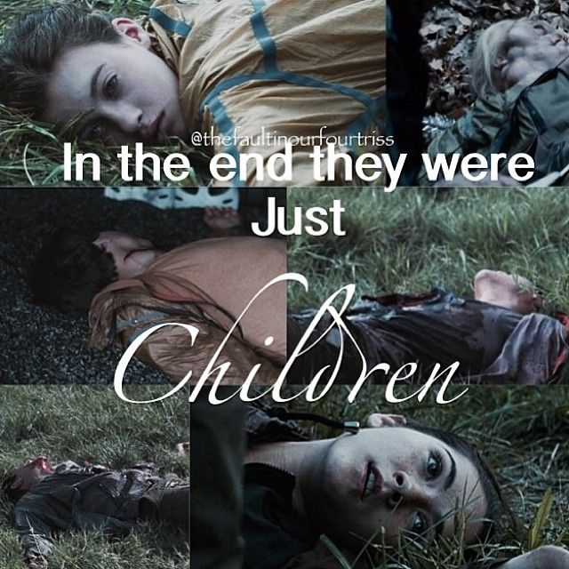 they were all children.......<3 cant believe Thresh was a kid too....