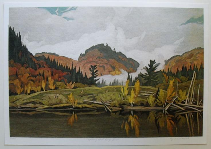 Group Of Seven Ltd Art Print - Morning Mist Rouge River - A J CASSON | eBay $44.99