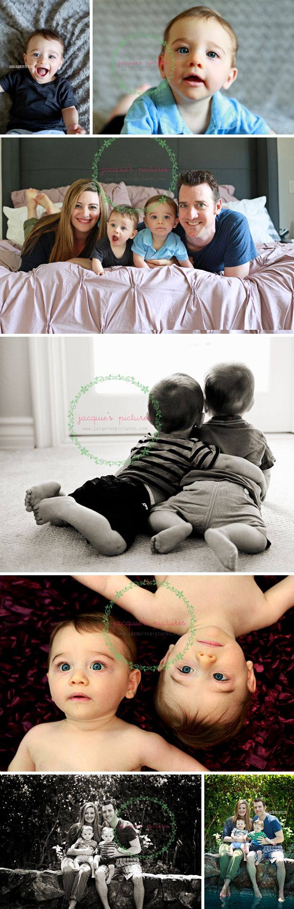 Twin photo ideas---love the b/w one of the brothers lying on the floor and hugging!