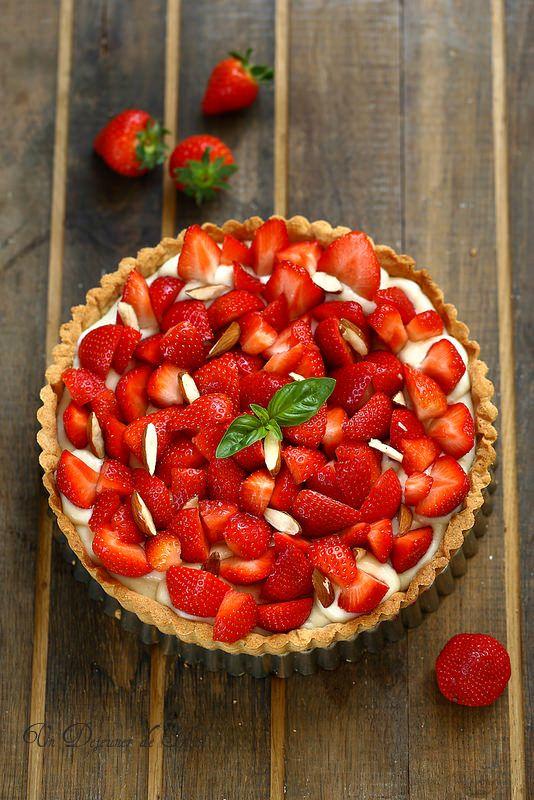 Tarte aux fraises (sans laitages)