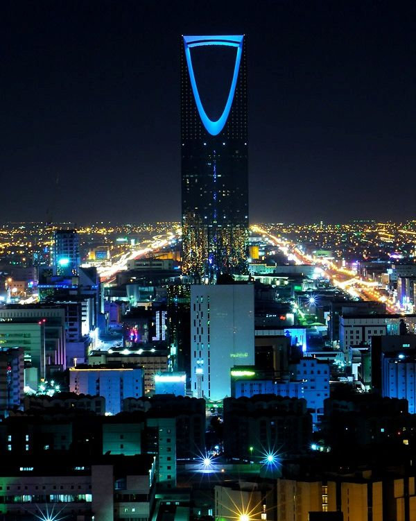 Riyadh Saudi Arabia by night time
