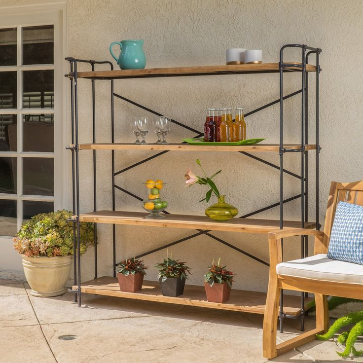 Best Selling Home Outdoor Wood Iron Wide Bookcase - 299039