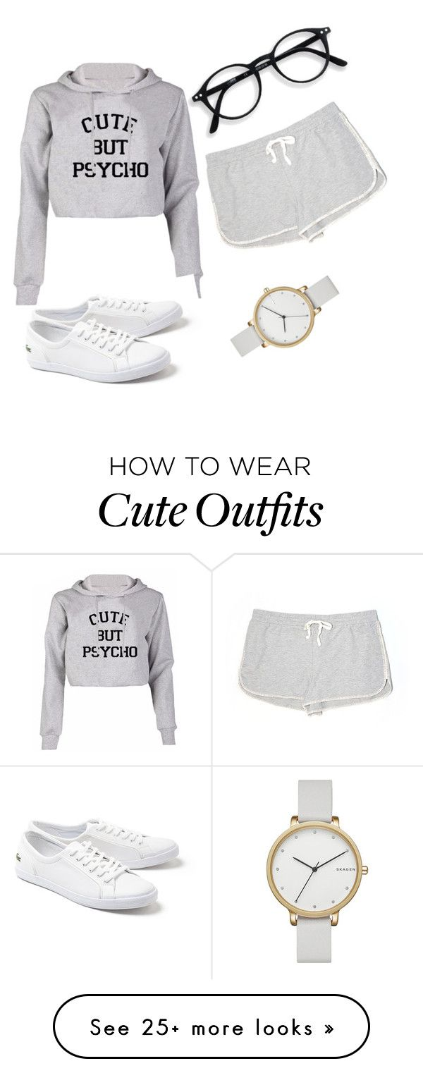 """Jogging Outfit ❤"" by laygoapril on Polyvore featuring Lou & Grey, Skagen and Lacoste"