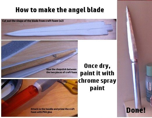 How To Make The Angel Blade from 'Supernatural' by tardisfullofponds on deviantART