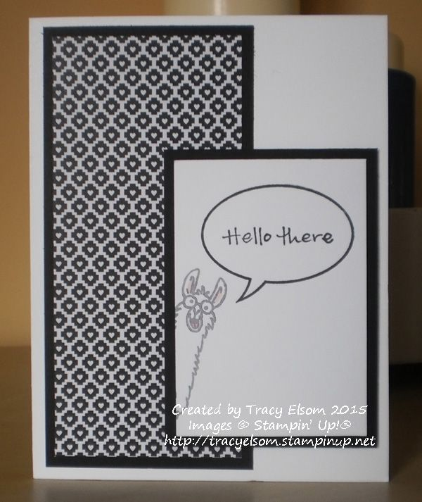 Use a portion of the Stampin' Up! From The Herd image stamp for even more fun.  http://tracyelsom.stampinup.net