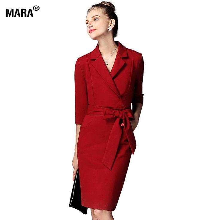 Ucuz 2016 Kadınlar Kış Elbise Kırmızı Turn aşağı yaka Uzun Kollu İnce Kalem Elbise Parti Zarif Yay Artı Boyutu Elbise Resmi Elbiseler, Satın Kalite elbiseler doğrudan Çin Tedarikçilerden:   2016 kadınlar kış elbise kırmızı dönüş- yaka uzun kollu aşağı ince kalem elbise parti zarif yay artı boyut