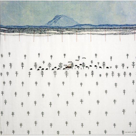 Skogen skyddar liv III, by the Sami artist Britta Marakat-Labba
