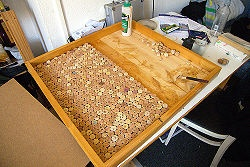 Hmmm...trying to find a GOOD way to make RA doortags using some old wine corks in the office and instagram pictures...maybe this could work?: Wine Corks Boards, Actually Corks, Bulletin Boards, Corks Corkboard, Small Rooms, Recycled Wine Corks, Instagram Pictures Maybe, Wine Work, Corks Anymore