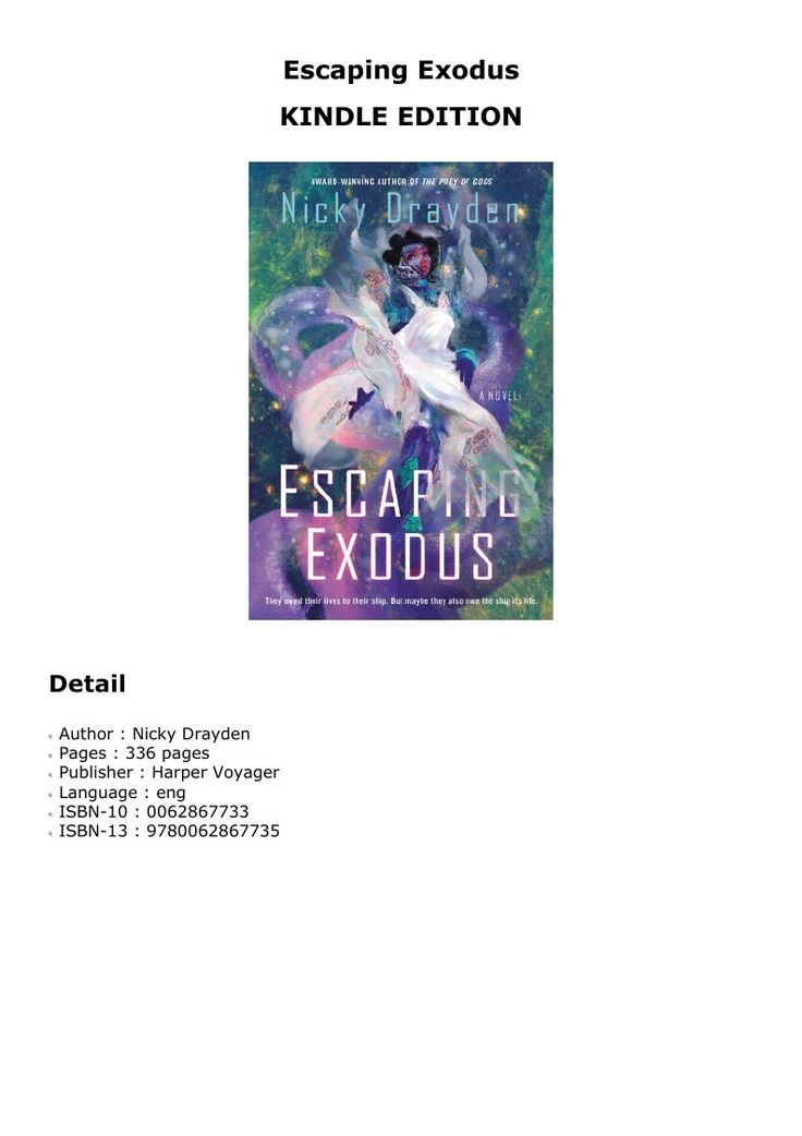 Download escaping exodus books book cover exodus