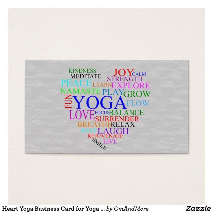 119 best Custom Yoga Instructor/Teacher Business Cards images on ...