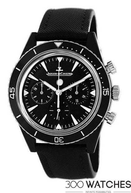 Mens Jaeger-LeCoultre Deep Sea Chronograph Black Cermet | chronograph watches for men Item ID: 300W110646 | 300watches