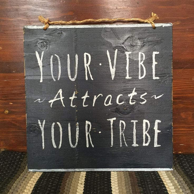 Your Vibe Attracts Your Tribe Sign / Yoga Decor / Bohemian Decor / Hippie Decor - Navy Blue by HollyWoodTwine on Etsy