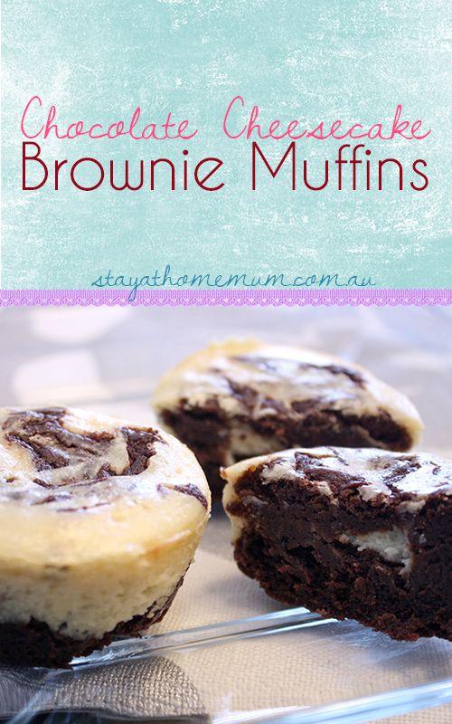Chocolate Cheesecake Brownie Muffins