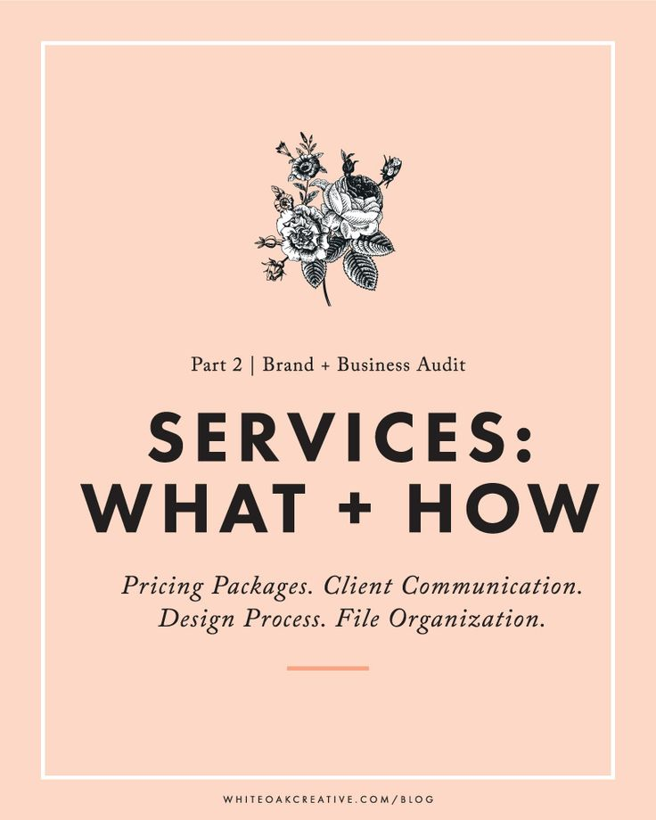 Blog + Business Audit Part 2: Freelancing Services - all about pricing packages, client communication, the design process and how to organize your files