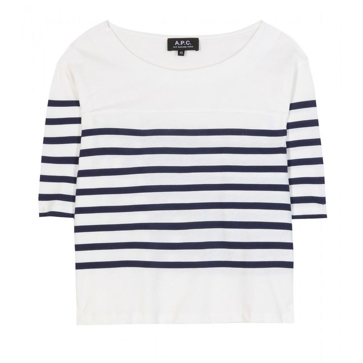 A.P.C. - Baseball cropped cotton t-shirt http://www.hiphunters.com/shop/a-p-c-baseball-cropped-cotton-t-shirt/534b4466bad0206418568949