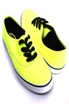 NEON YELLOW LACE UP SLIP ON THICK RUBBER SOLE SHOES
