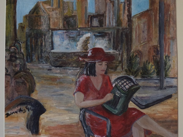 The Contessa by Jaims  Oil and mixed media on paper  330 x 280 (mounted 450 x 400)