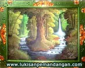 Lukisan pemandangan hutan