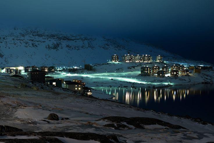Greenland by night