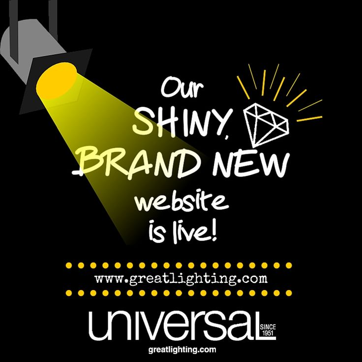 One of the major things we've been working on behind the scenes here at Universal Lamp is our BRAND NEW WEBSITE and we are so excited to finally say that it is live!! We've spent a lot of time making it more beautiful to look at and easy to use! Please check it out for yourselves and let us know what you think!