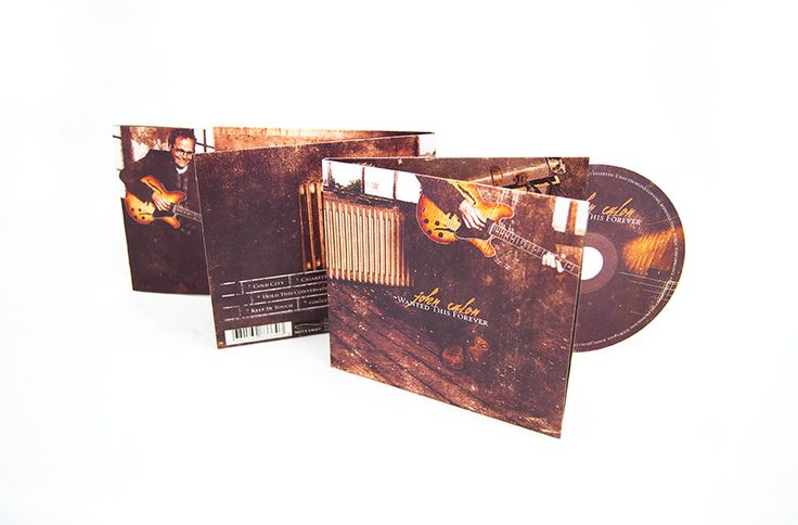"The cd packaging and band website designs Maarten Kleyne made for the ""Wanted This Forever"" record of John Calon. Deluxe digipack cd design."