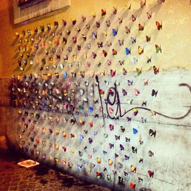 Paper Butterflies in Trastevere