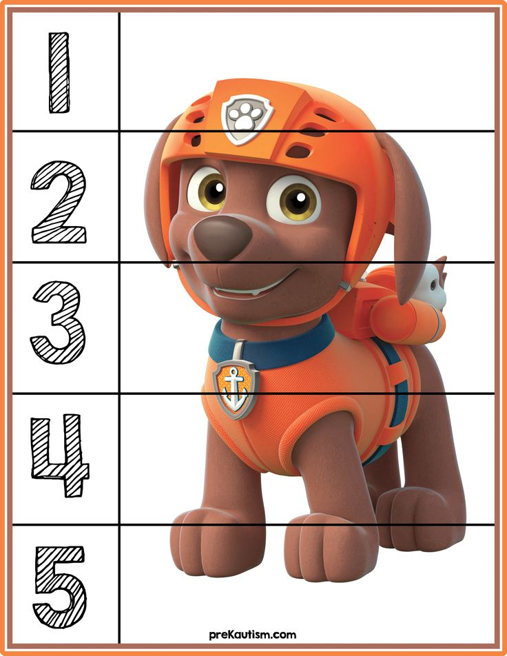 Paw Patrol Number Puzzles - Activities For Toddlers With Autism                                                                                                                                                                                 More